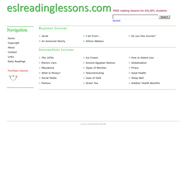 ESL Reading Lessons - Home