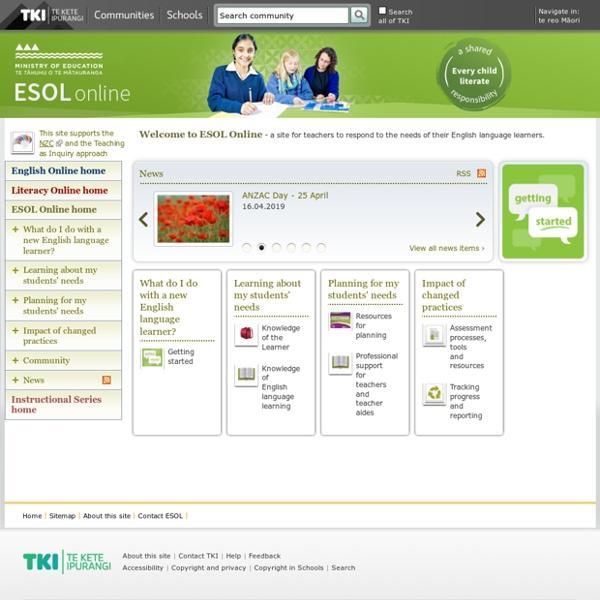 ESOL Online / English - ESOL - Literacy Online website - English - ESOL - Literacy Online