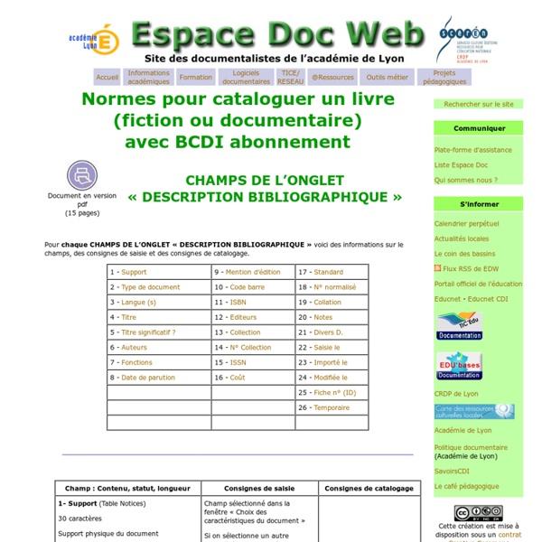 - Espace Doc Web - Académie de Lyon