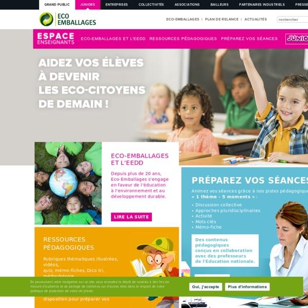 Eco-emballages juniors / espace enseignant