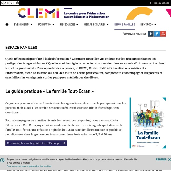 Guide famille - CLEMI