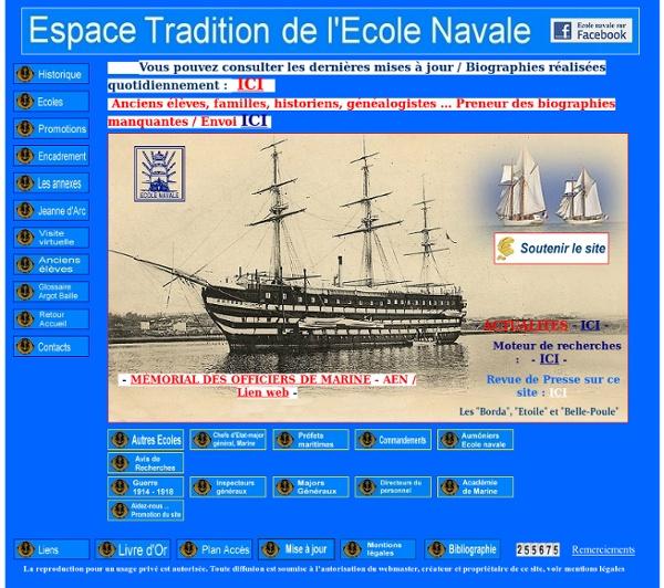 Espace Tradition - Ecole navale - Accueil