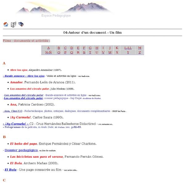 Espagnol - Académie de Grenoble - 04-Autour d'un document - Un film