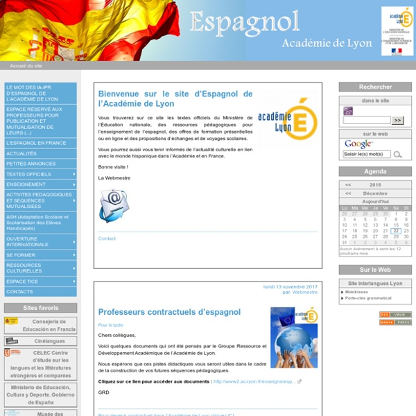 Site académique d'espagnol