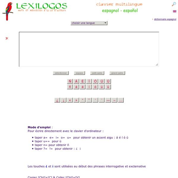 Clavier espagnol en ligne