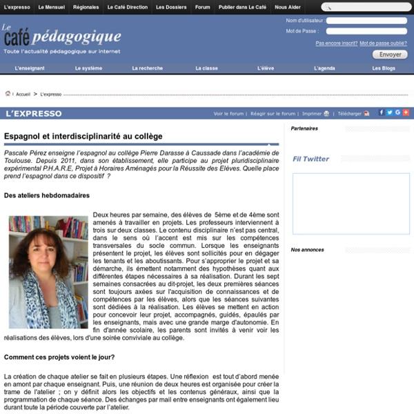 Espagnol et interdisciplinarité au collège