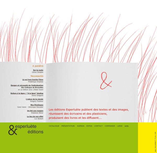 Les éditions Esperluète publient des textes et des images, réuni