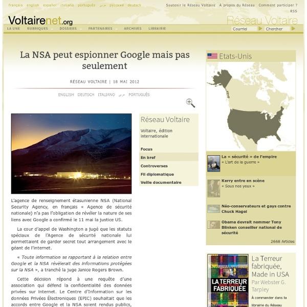 Alliance NSA/Google NSA/Microsoft