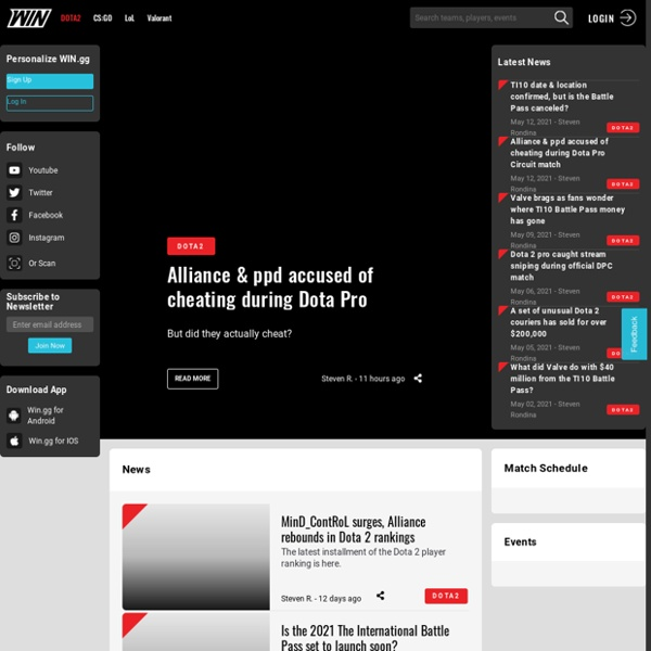 Dota 2 News - WIN.gg: Your home for Esports and Dota 2 news, scores, stats & schedules