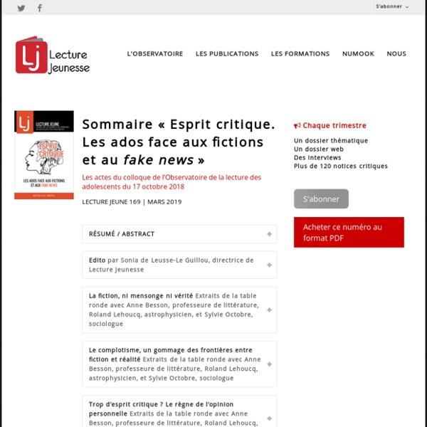 Esprit critique n°169, mars 2019
