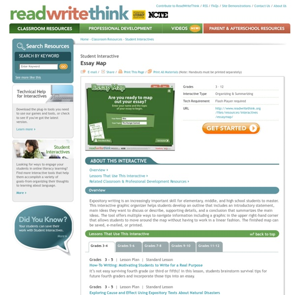 readwritethink essay maps An interactive story map resembles a web,  interactive story maps reinforce story structure when reading a  venn diagrams, cause-and-effect charts, essay.