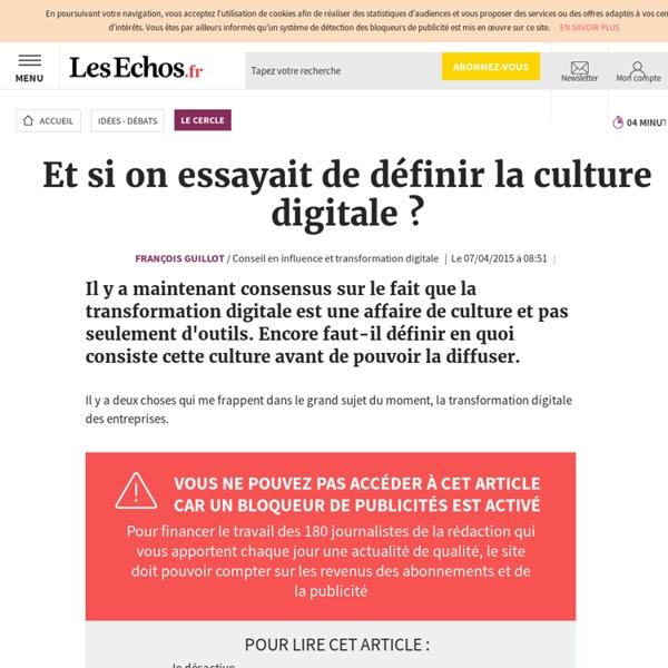 Et si on essayait de définir la culture digitale ?