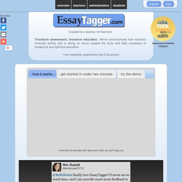 EssayTagger.com - Transform assessment, transform education