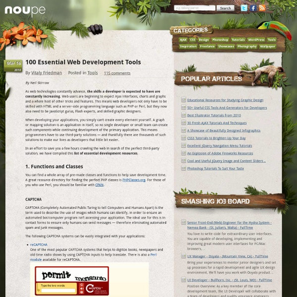 100 Essential Web Development Tools - Noupe Design Blog