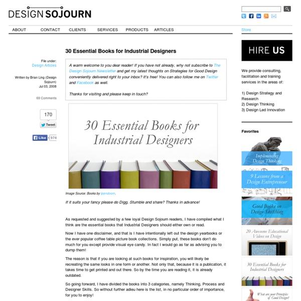 30 Essential Books for Industrial Designers