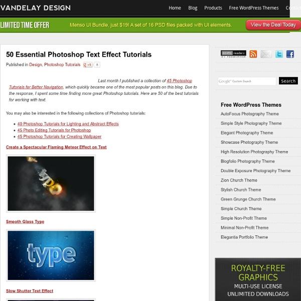 50 Essential Photoshop Text Effect Tutorials