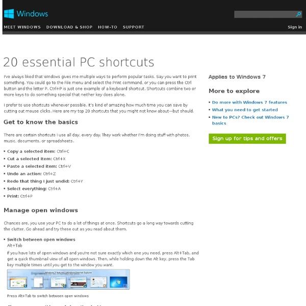 20 essential PC shortcuts