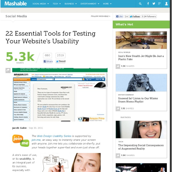 22 Essential Tools for Testing Your Website's Usability