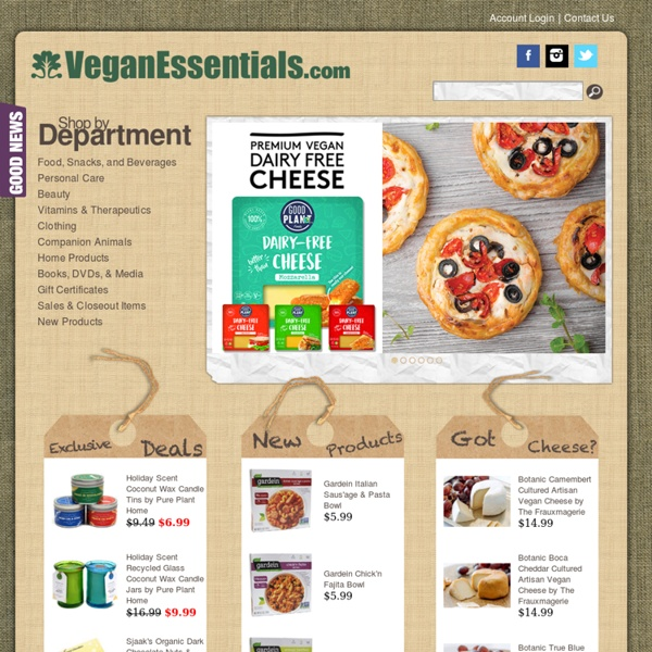 Vegan Essentials - Online Vegan Store - Vegan Products for cruelty-free living