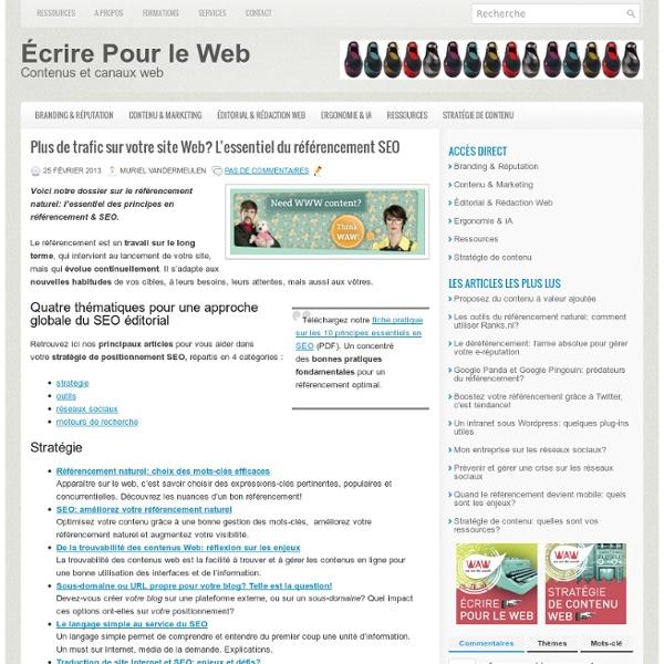 Plus de trafic sur votre site Web? L'essentiel du référencement SEO