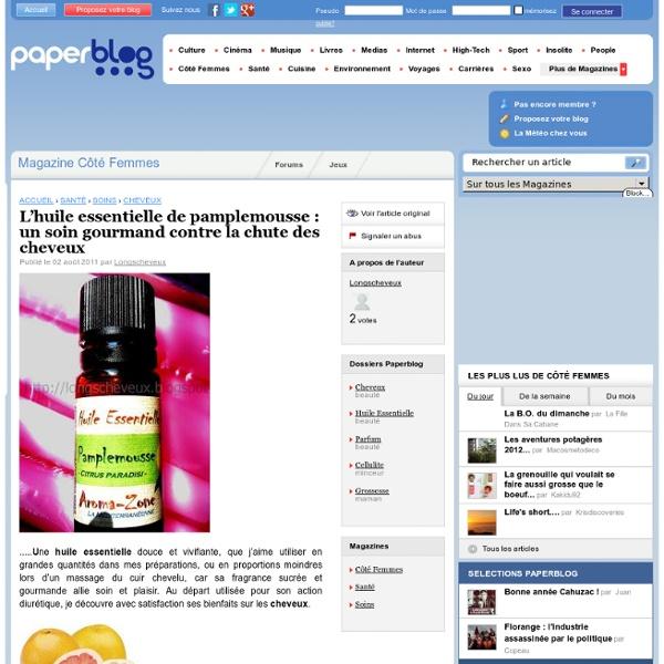 L'huile essentielle de pamplemousse : un soin gourmand contre la chute des cheveux