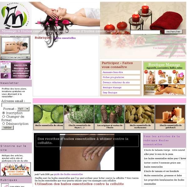 Des recettes d'huiles essentielles à utiliser contre la cellulite.