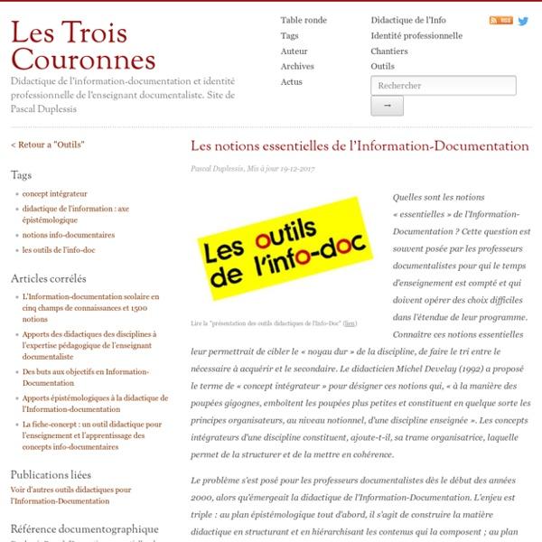 Les notions essentielles de l'Information-Documentation