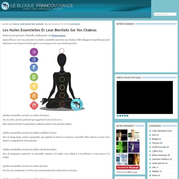Huiles essentielles associées aux chakras