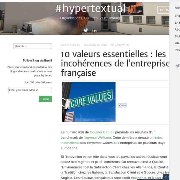 10 valeurs essentielles : les incohérences de l'entreprise française