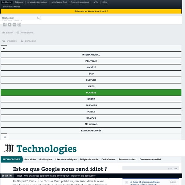 Est-ce que Google nous rend idiot ? : Utilisée