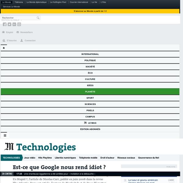 Est-ce que Google nous rend idiot ?