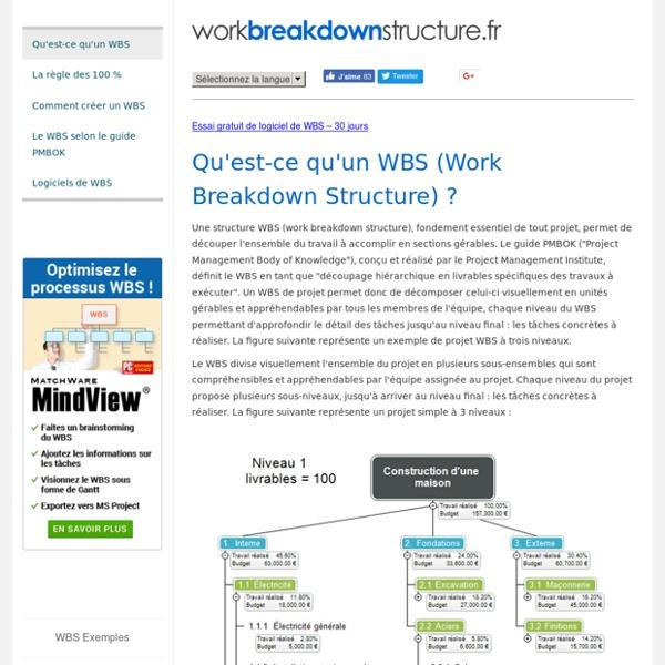 Workbreakdownstructure.fr - Qu'est-ce qu'un WBS (Work Breakdown Structure) ?