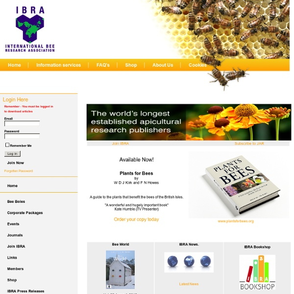 The world's longest established apicultural research publishers - International Bee Research Association
