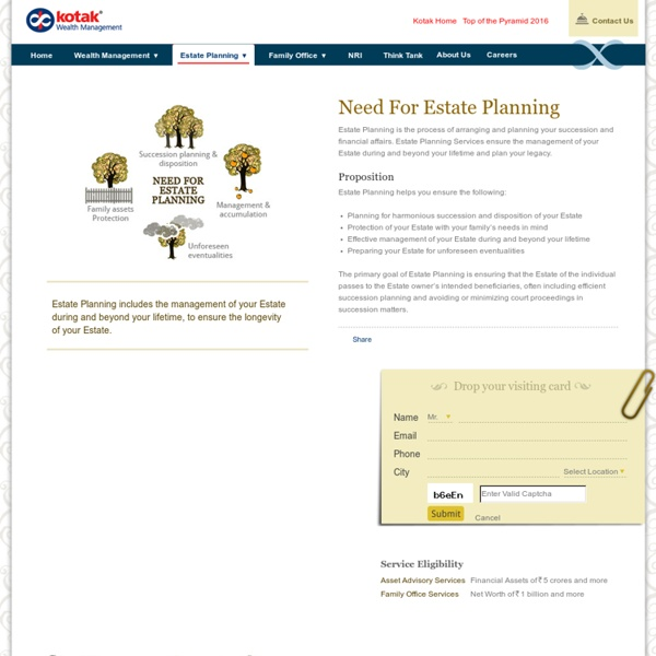 Estate Planning Process - Kotak Wealth Management