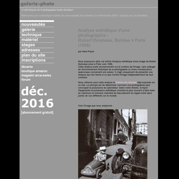Analyse esthétique d'une photographie de Robert Doisneau - Bolides à Paris