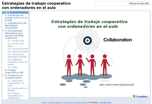 Estrategias de trabajo cooperativo con ordenadores en el aula