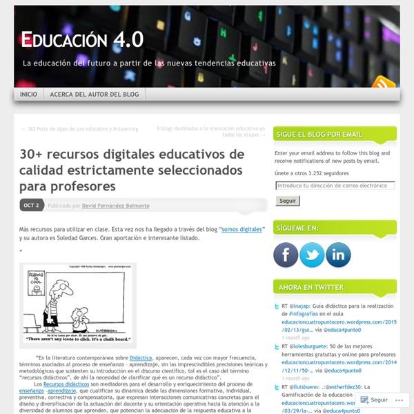 30+ recursos digitales educativos de calidad estrictamente seleccionados para profesores