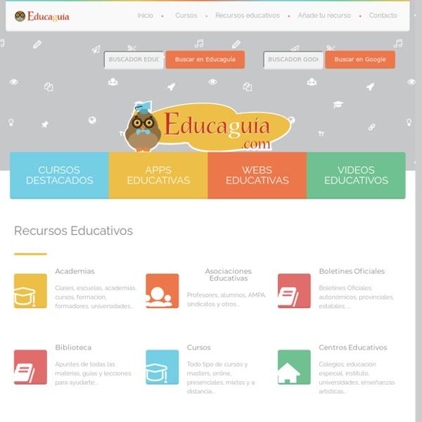 Educaguía - Guía de Recursos Educativos en Red, para estudiantes profesores padres y profesionales de la educacion