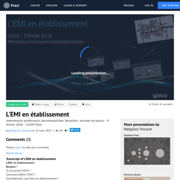 L'EMI en établissement by Patigniez Vincent on Prezi