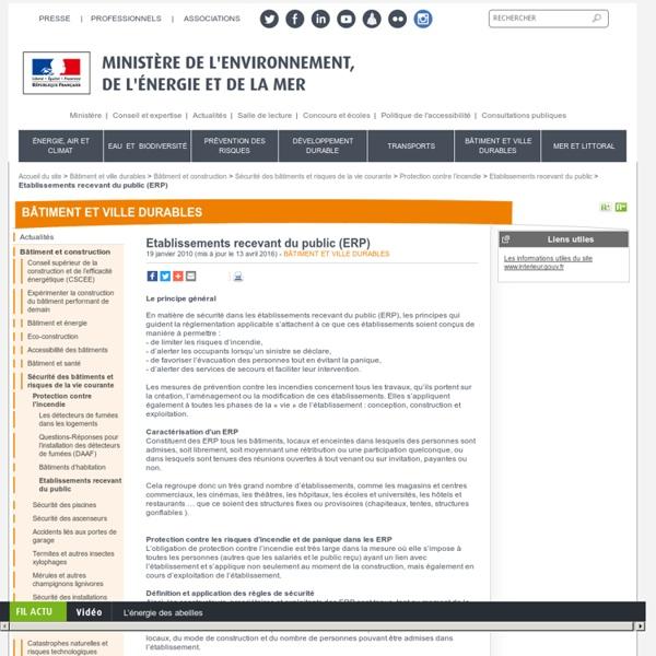 Etablissements recevant du public (ERP)