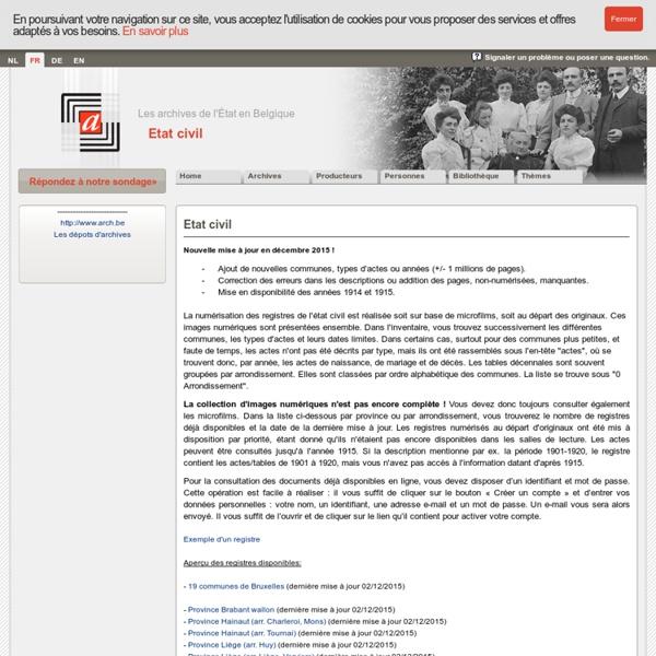Etat civil en ligne