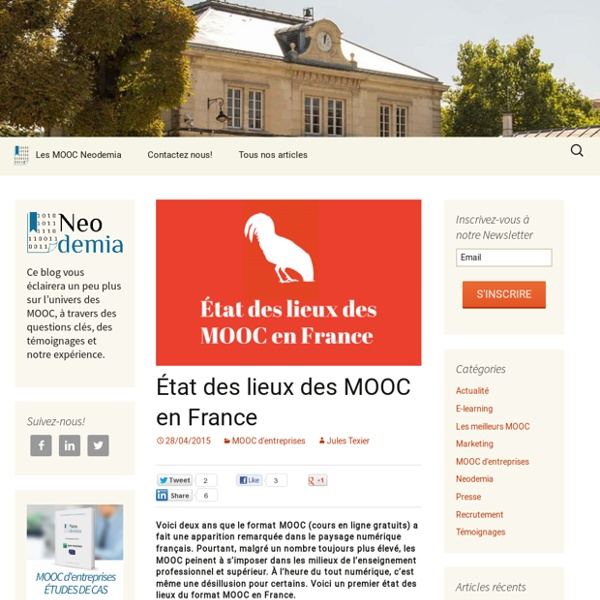 État des lieux des MOOC en France
