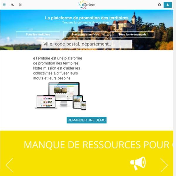eTerritoire, premier réseau professionnel et social des territoires français