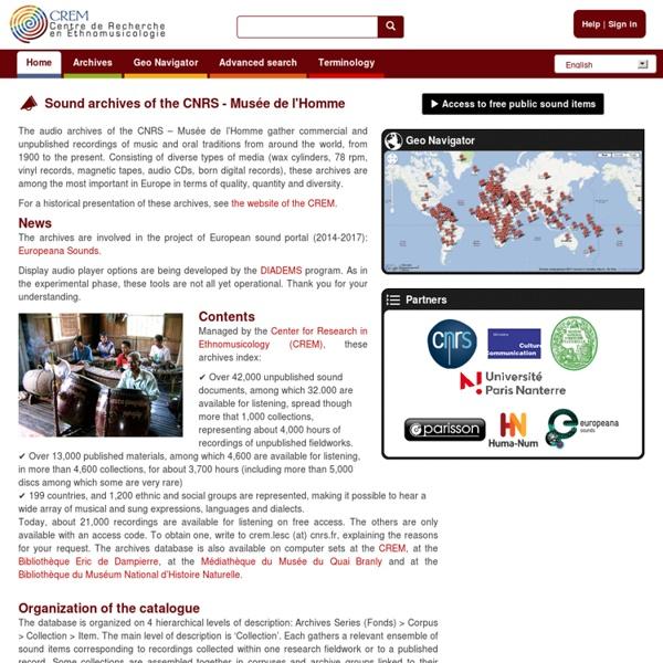 Centre de Recherche en Ethnomusicologie CREM