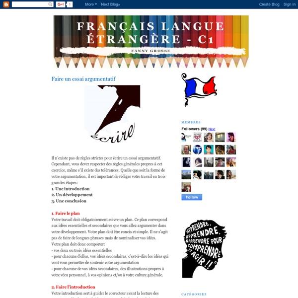 Français Langue Étrangère - C1: Faire un essai argumentatif