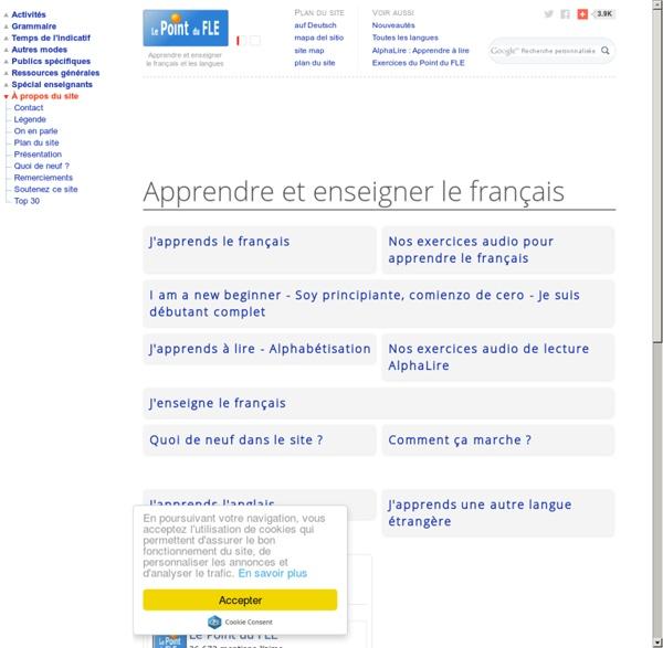Le Point du FLE - Annuaire du français langue étrangère - Apprendre le français - Learn French - Aprender francés - Französisch lernen