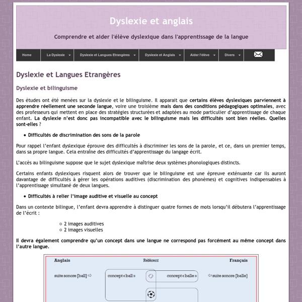 Dyslexie et Langues Etrangères : Dyslexie et bilinguisme
