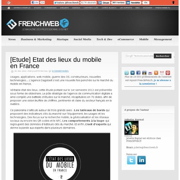 [Etude] Etat des lieux du mobile en France