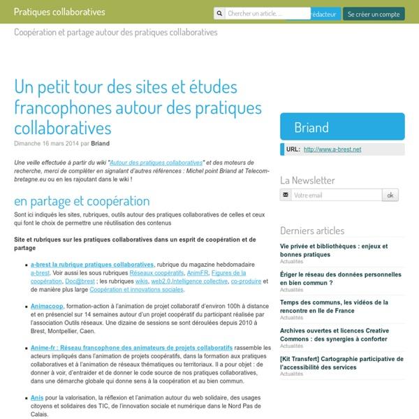Un petit tour des sites et études francophones autour des pratiques
