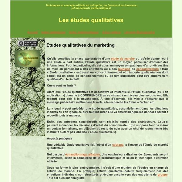 Études qualitatives marketing